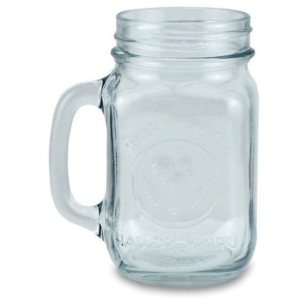 Drinking Jar 16-ounce Glass Mugs (Set of 4)