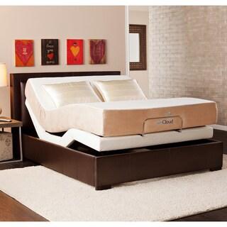 myCloud Adjustable Bed Queen-size with 10-inch Gel Infused Memory Foam Mattress