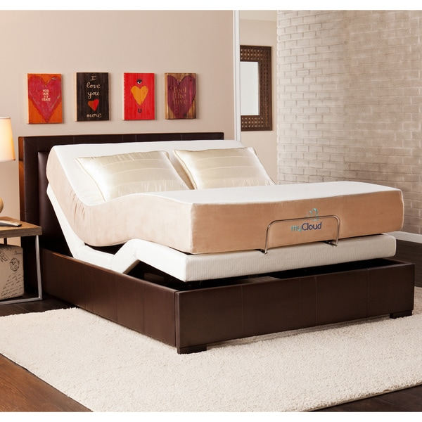Mycloud Adjustable Bed Queen Size With 10 Inch Gel Infused Memory Foam Mattress 15825185