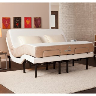 myCloud Adjustable Bed King-size with 10-inch Gel Infused Memory Foam Mattress