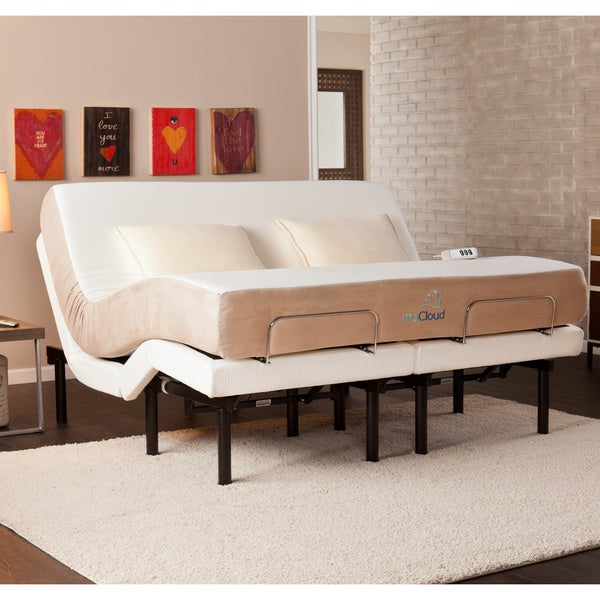Mycloud adjustable bed king size with 10 inch gel infused memory foam mattress 15825187 Memory foam mattress king size sale