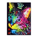 Dean Russo 'Thinking Cat Crowned' Canvas art