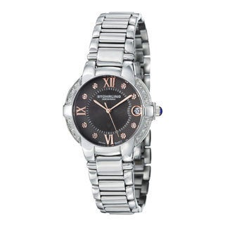 Stuhrling Original Women's Countess Elite Silvertone Swiss QuartzBracelet Watch