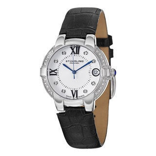 Stuhrling Original Women's Countess Swiss Quartz Black Strap Watch
