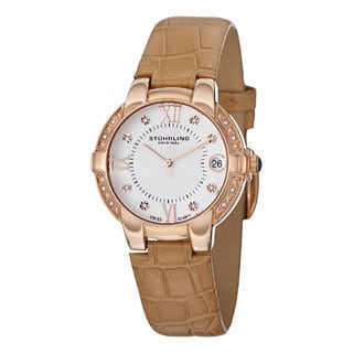 Stuhrling Original Women's Countess Swiss Quartz Tan Strap Watch