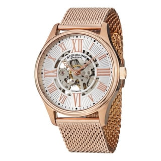 Stuhrling Original Men's Atrium Elite Gold Automatic Bracelet Watch