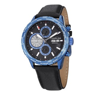 Stuhrling Original Men's Nomad Black/Blue Automatic Strap Watch