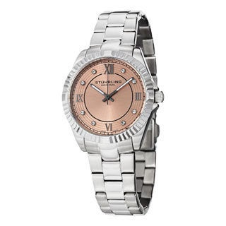 Stuhrling Original Women's Lady Nautic Silver/Pink Swiss Quartz Bracelet Watch