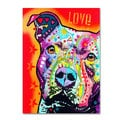 Dean Russo 'Thoughtful Pitbull' Canvas art