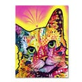 Dean Russo 'Tilt Cat' Canvas art