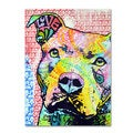 Dean Russo 'Thoughtful Pitbull II' Canvas art