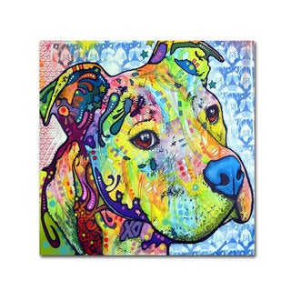 Dean Russo 'Thoughtful Pitbull III' Canvas art