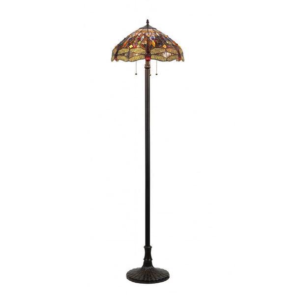 tiffany style dragonfly design 3 light dark antique bronze floor lamp. Black Bedroom Furniture Sets. Home Design Ideas