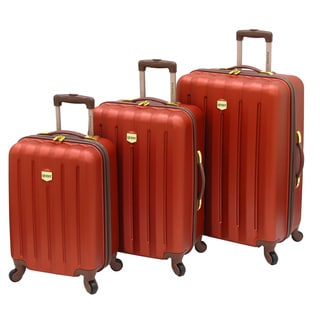 Quest Journey Collection 3-piece Burnt Orange Hardside Spinner Luggage Set