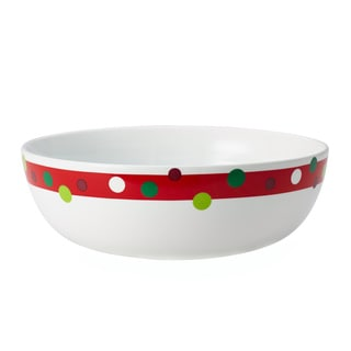 Rachael Ray Dinnerware Hoot's Decorated Tree 10-Inch Round Porcelain Serving Bowl