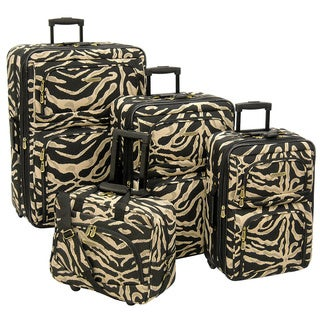 American Trunk and Case Voyager Zebra 4-Piece Luggage Set