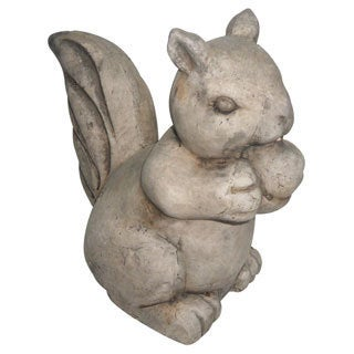 Nuts the Squirrel Vintage Stone Terracotta Garden Statuette