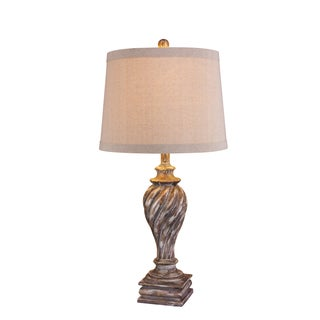 Resin Antique White Finish Table Lamp