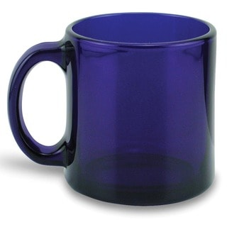 Recycled 13-ounce Handmade Cobalt Glass Mugs (Set of 4)