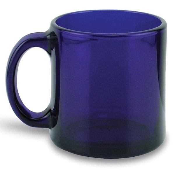 Recycled 13-ounce Handmade Cobalt Glass Mugs (Set of 4)