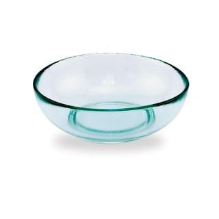 Small 7.25-inch Recycled Glass Bowls (Set of 2)