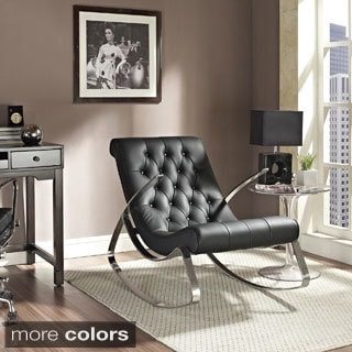 Black Lounge Chair Rocker