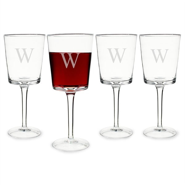 Personalized Contemporary Wine Glasses Set Of 4