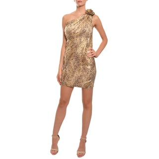 Mark & James Women's Sequined One-shoulder Cocktail Dress