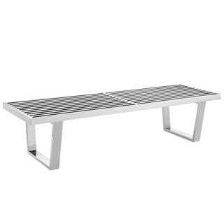 5-foot Two-Seater Stainless Steel Platform Bench