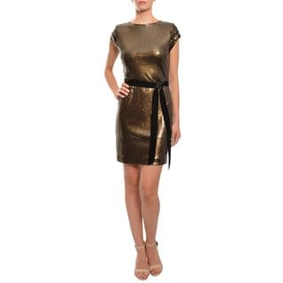Mark & James Women's Copper Sequined Cocktail Dress