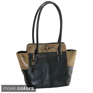 Buxton Alexandria Leather Tote
