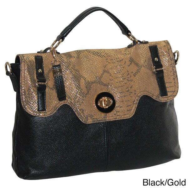 Buxton Alexandria Leather Satchel