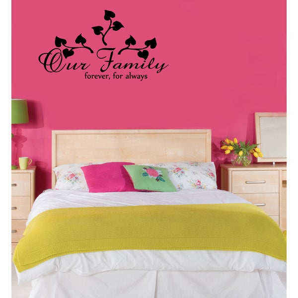 'Our Family forever, for always' Vinyl Wall Decal