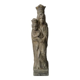 Madonna and Child Terracotta Statue