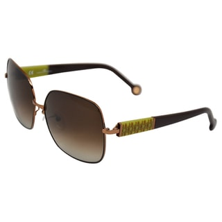 Carolina Herrera 'SHE021 0I62' Bronze Polished Fashion Sunglasses
