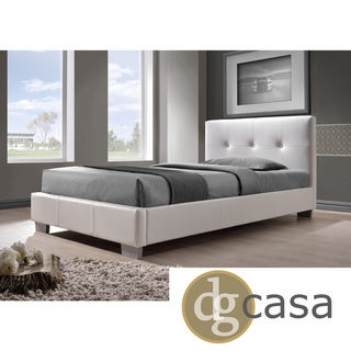 DG Casa White Twin Size Bed