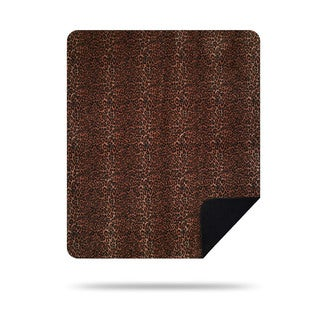 Denali Black and Brown Jaguar Throw Blanket