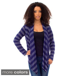 Stanzino Women's Striped Glitzy Cardigan