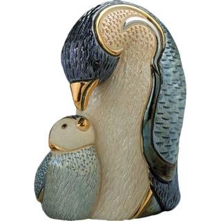 DeRosa Penguin with Baby Figurine (Uruguay)