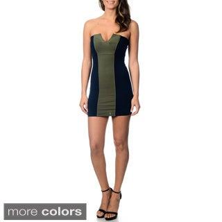 David Lerner Women's Strapless Mini Dress
