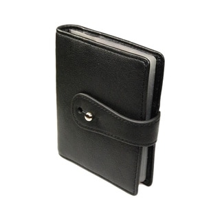 Castello Black Italian Nappa Leather Cardholder