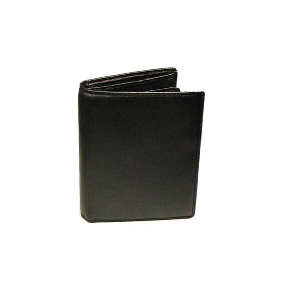 Castello Black Nappa Leather Tall Billfold Wallet