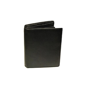 Castello Black Nappa Leather Tall Billfold Wallet