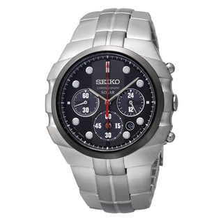 Seiko Men's Solar Chronograph Stainless Steel Watch