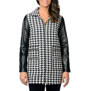 Berek Women's Houndstooth Long Jacket