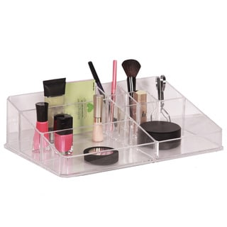 Richards Homewares 9-Compartment Clear Cosmetic Organizer