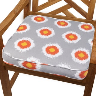 Ikat Citrus Dot 20-inch Indoor/ Outdoor Corded Chair Cushion