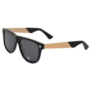 Rio by 9 Five Men's 'KLS 2' Black/ Gold Polarized Retro Sunglasses