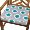 Ikat Teal Dot 20-inch Indoor/ Outdoor Corded Chair Cushion