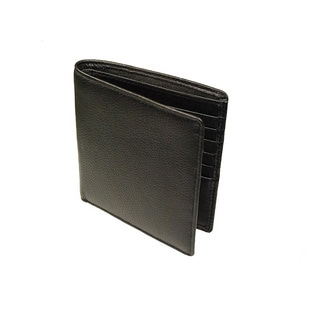 Castello Black Nappa Leather Hipster Wallet